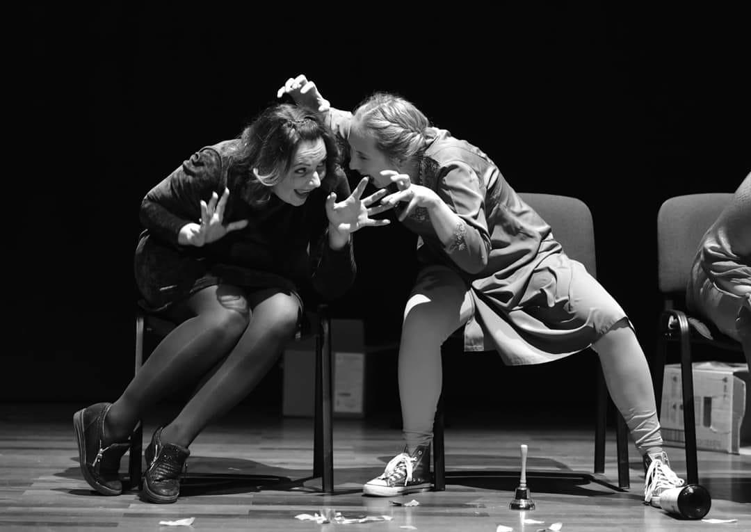 """Наталка Шаповал (справа) у виставі в Познані. Spektakl """"Ja, kobieta""""/ """"Я, жінка"""""""